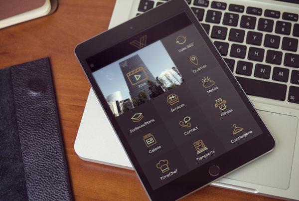 yours ipad w 600x403 - Application de bureaux pour la Tour W
