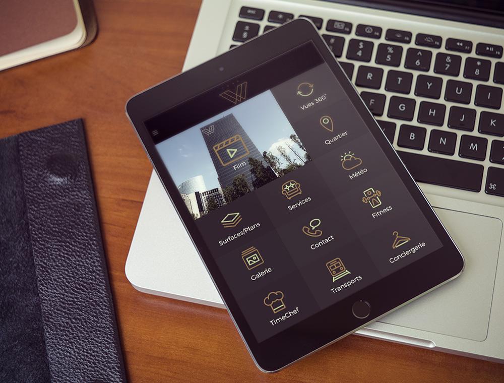 yours ipad w - Application de bureaux pour la Tour W
