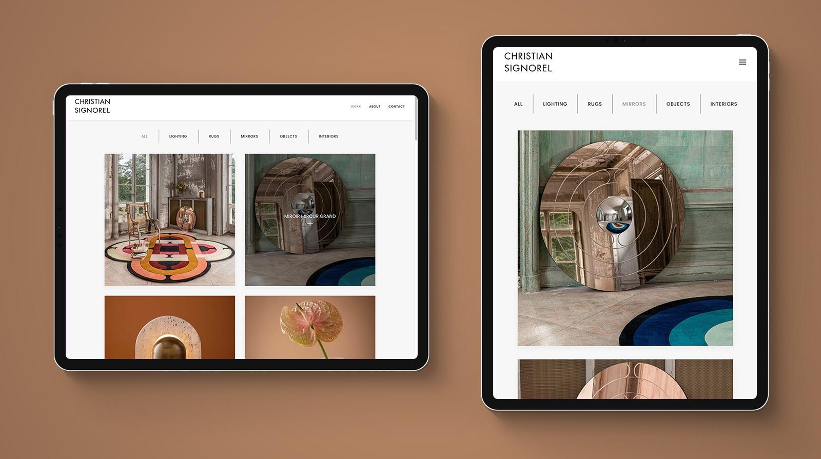 christiansignorel ipad - Design by CS